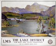 The Lake District For Rest and Quiet Imaginings, Cumbria. Vintage LMS Travel poster by S J Lamorna Birch